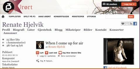 Renate Hjelvik #5 på Urørt nå – hør låten!