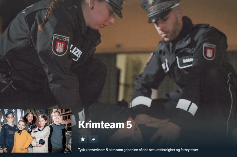 Premiere for «Krimteam 5» på NRK Super